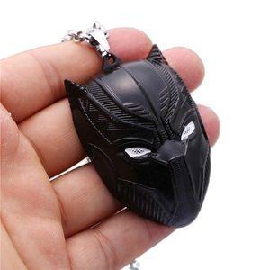 Black Panther Necklace Metal Pendant Necklace